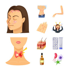 Pain and dermatology icon vector