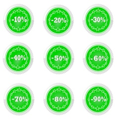 percent and discounts vector image