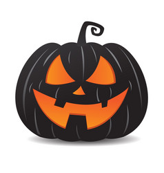 Pumpkin jack o lantern smiley face vector
