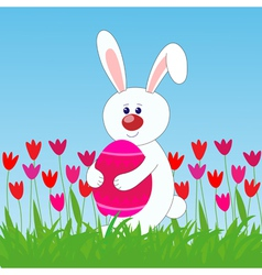 rabbit easter egg vector image vector image