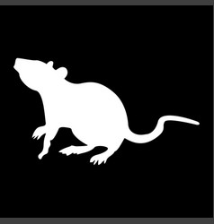 Rat white color icon vector