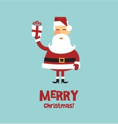 santa claus card vector image