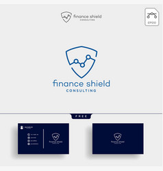 shield stats business creative logo template vector image