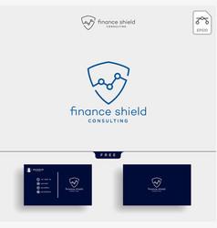 Shield stats business creative logo template vector