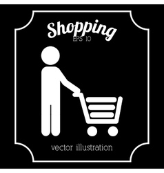 shopping icon design vector image