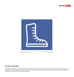 skating shoe icon - blue photo frame vector image