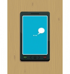 smart phone on wood vector image