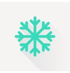 snowflake icon vector image