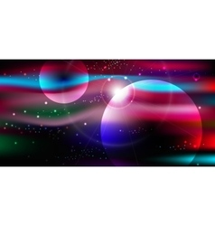 space background with stars nebula milky way vector image