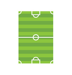 Sport field soccer flat style icon vector