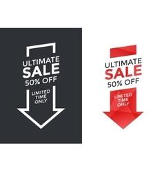 Super sale arrow design vector image