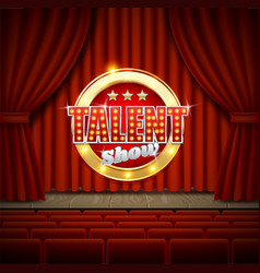 talent show poster template realistic vector image
