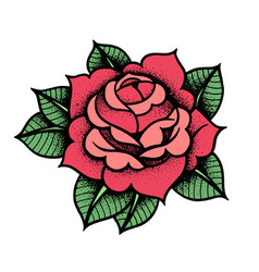 Tattoo rose flower art vector
