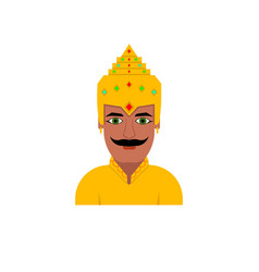 The king of the hindu vector