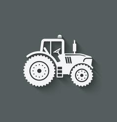 tractor silhouette icon vector image