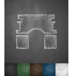 Triumphal Arch icon Hand drawn vector
