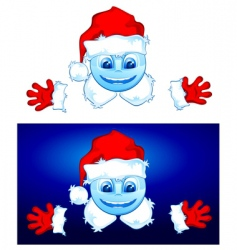 two Santa vector image
