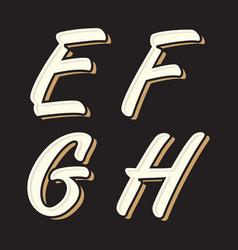 vintage letter efgh vector image