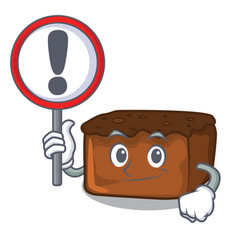 with sign brownies character cartoon style vector image