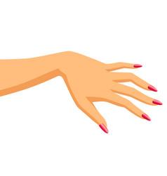 Woman hand vector