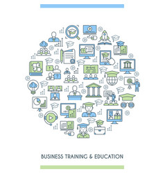 Business training and education concept vector
