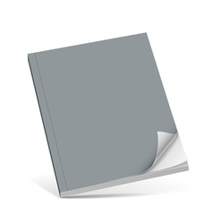 Cover gray book with blank vector image vector image