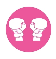 emblem boxing gloves icon image vector image
