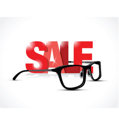 glasses sale sign vector image vector image