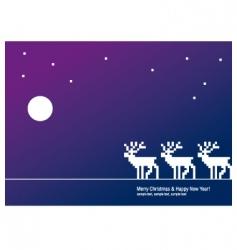 greeting card deer vector image vector image