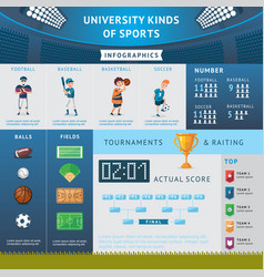 university sport infographic concept vector image vector image
