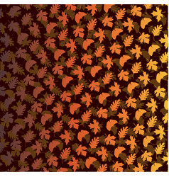 gradient layered leaf pattern on brown vector image