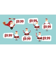 santa price tag vector image