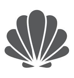 seashell glyph icon animal and underwater vector image