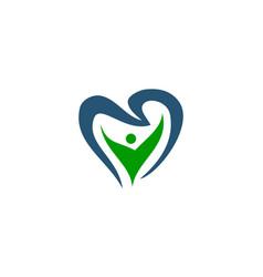 healthy dental care vector image