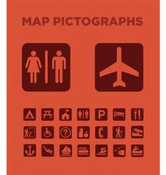 map pictographs collection vector image