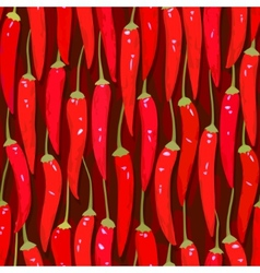 red cayenne chili pepper seamless vector image vector image