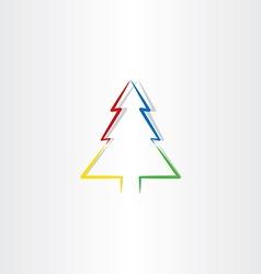 colorful christmas tree icon design symbol vector image vector image
