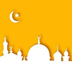Islamic architecture background Ramadan Kareem vector image vector image