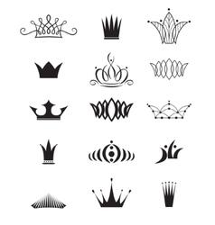 Modern crowns vector image