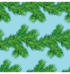 Seamless pattern with Christmas fir tree vector image