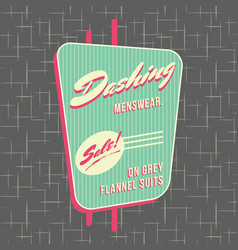 1950s storefront style logo design vector image