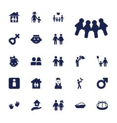 22 boy icons vector
