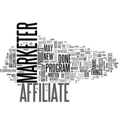 A day in the life of an affiliate marketer text vector