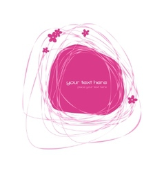 Abstract pink frame vector