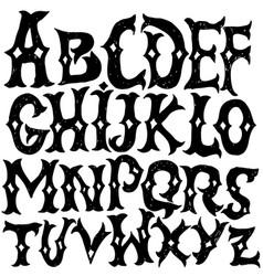 Antique alphabet gothic letters vintage hand vector