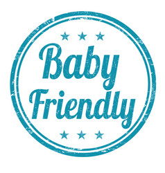 baby friendly grunge rubber stamp vector image