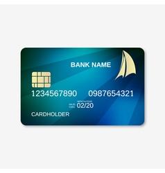 Bank card design template vector