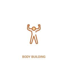 Body building concept 2 colored icon simple line vector