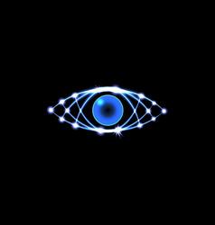 Brilliant technological eye hud on a black vector