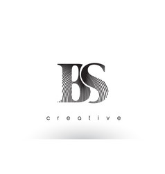 Bs logo design with multiple lines and black and vector